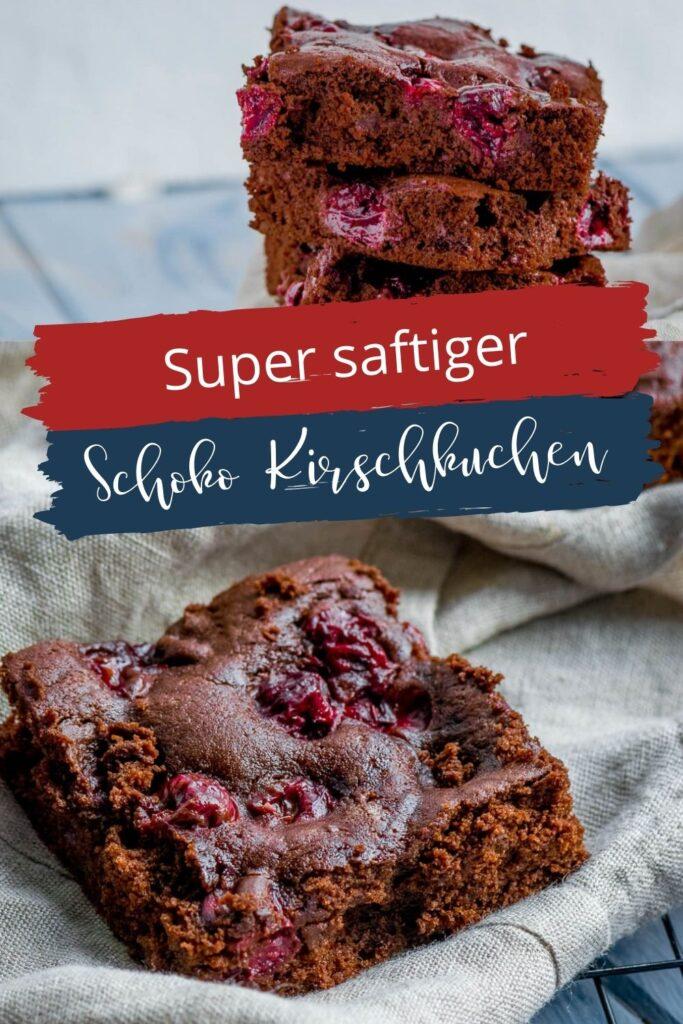 Super saftiger Schoko Kirschkuchen. - wird mit flüssiger Schokolade gebacken - für die Backform oder als Blechkuchen. Mega lecker!