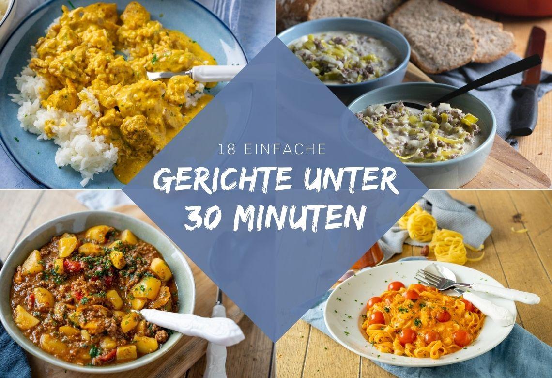 Diese 18 Rezepte kochst du in unter 30 Minuten