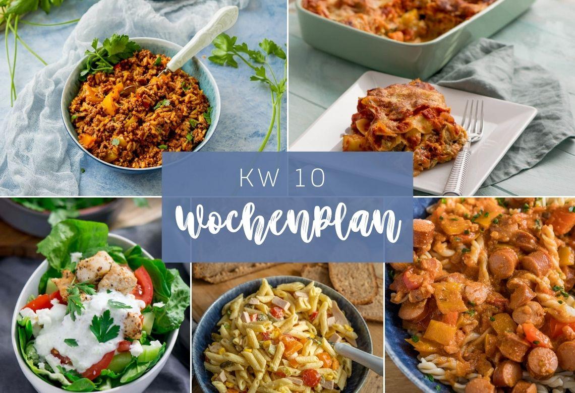 Wochenplan KW 10 – das esse ich diese Woche – 7 köstliche Gerichte