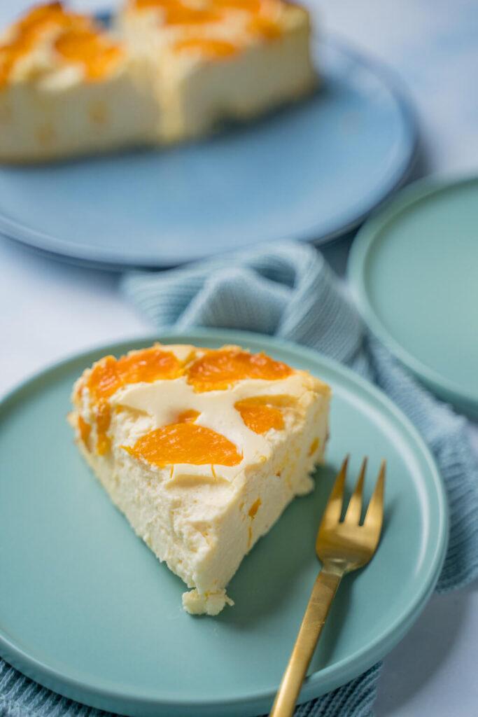 Cremiger Käsekuchen mit Mandarine
