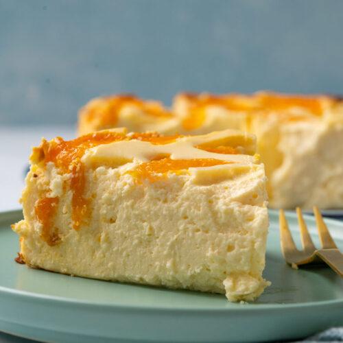 Puddingpulver mit quarkkuchen boden ohne Mandarinen Käsekuchen