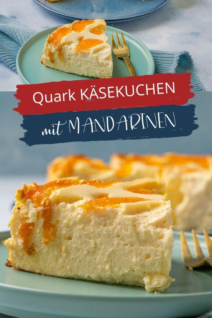 Quark Käsekuchen Mandarine - Das Rezept ist herrlich unkompliziert und du brauchst tatsächlich nur 10 Minuten vor die Vorarbeit. Du kannst den Käsekuchen mit Mandarinen belegen oder diese direkt in die Käsekuchen-Creme mit einarbeiten.