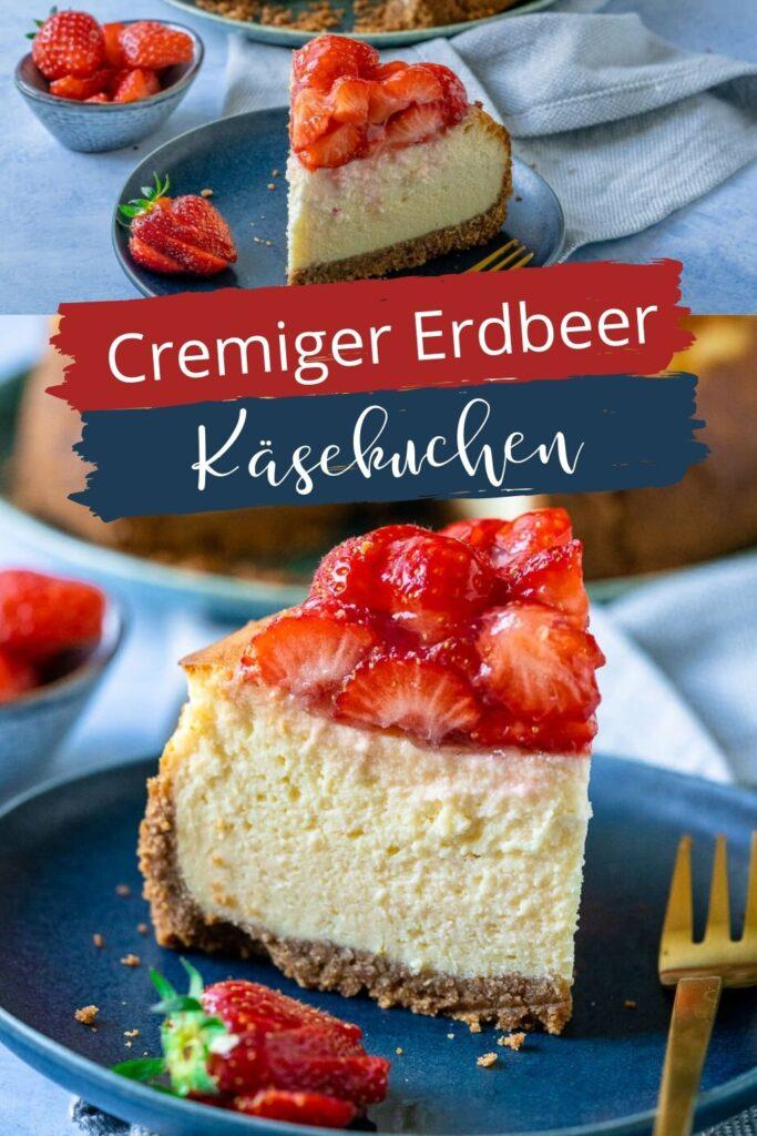 Mein Käsekuchen des Jahres: dieser cremige Quark Käsekuchen mit Erdbeeren schmeckt himmlisch gut. Der sommerliche Kuchen ist zudem super einfach zu backen und sieht genauso gut aus, wie er schmeckt.