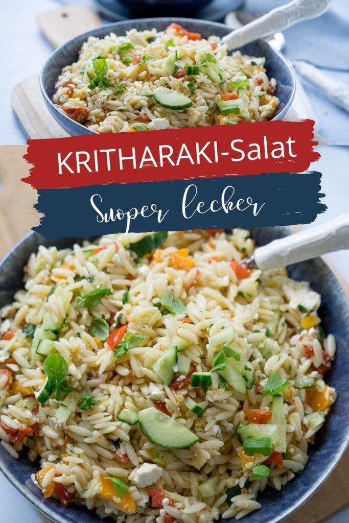 Griechischer Salat - Einfacher und mega köstlicher Salat - schmeckt nicht nur an heißen Sommertagen. Der griechische vegetarische Nudelsalat ist der Knaller und der Liebling auf jedem Grillbuffet.