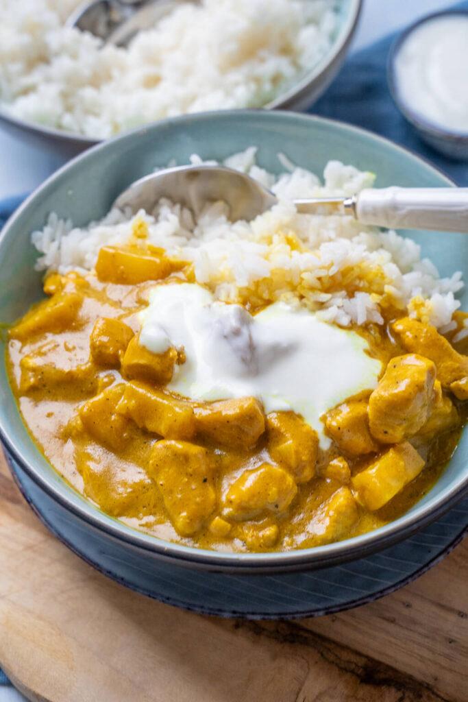 Madras Curry mit Kokosmilch