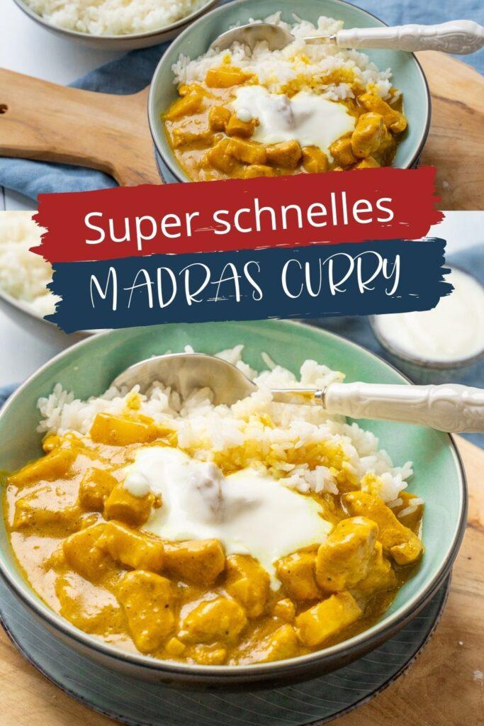 Knaller Rezept - Schnelles Madras Curry mit Ananas - Dieses köstliche Madras Curry mit nur wenigen Zutaten ist genial. Die Currysoße mit Kokosmilch, Ananas und Geflügelfleisch ist der so lecker