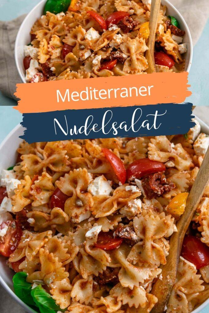 Mediterraner Nudelsalat mit einem fruchtig würzigen Balsamico Dressing. Der perfekte Salat zum Grillen oder als Mahlzeit im Homeoffice - die Zubereitung ist wirklich super easy.