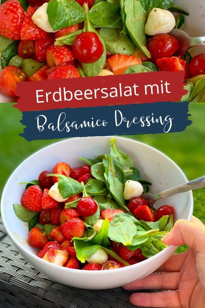 OMG, dieser Erdbeersalat ist der Knaller. Er macht glücklich, ist gesund und macht dazu noch süchtig - mit Feldsalat, Tomate & Mozzarella.