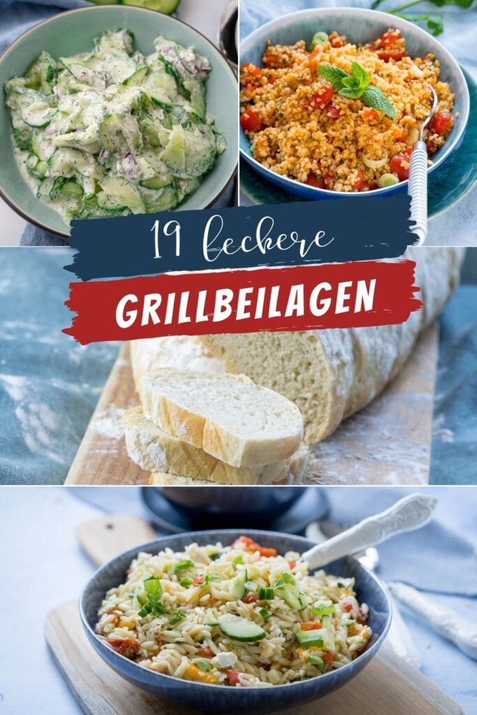 Zum Grillen gibt es nicht nur Fleisch, viel wichtiger sind leckere Beilagen: Brot, Salate, Dipps und Butter. So wird genussvoll gegrillt.