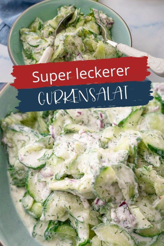 Mega lecker, schnell gemacht und ein echter Klassiker. Alle lieben den Gurkensalat, er schmeckt erfrischend und ist eine perfekte Beilage.