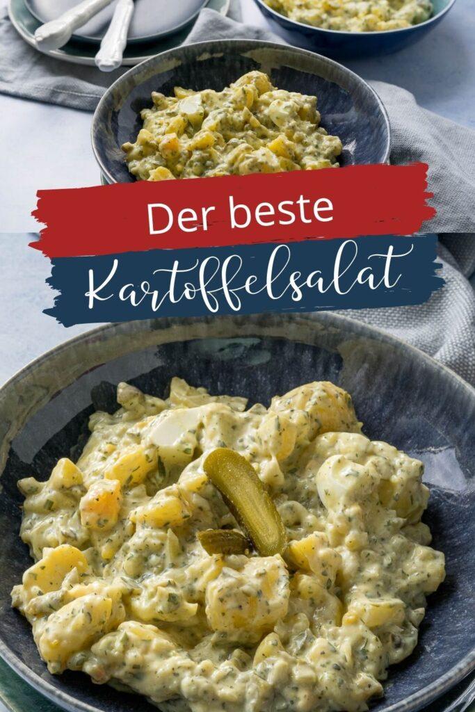 Der beste Kartoffelsalat ist und bleibt der norddeutsche Klassiker mit Mayonnaise. Das Rezept ist super, denn er wird perfekt - mit Gurken, Senf und Ei.