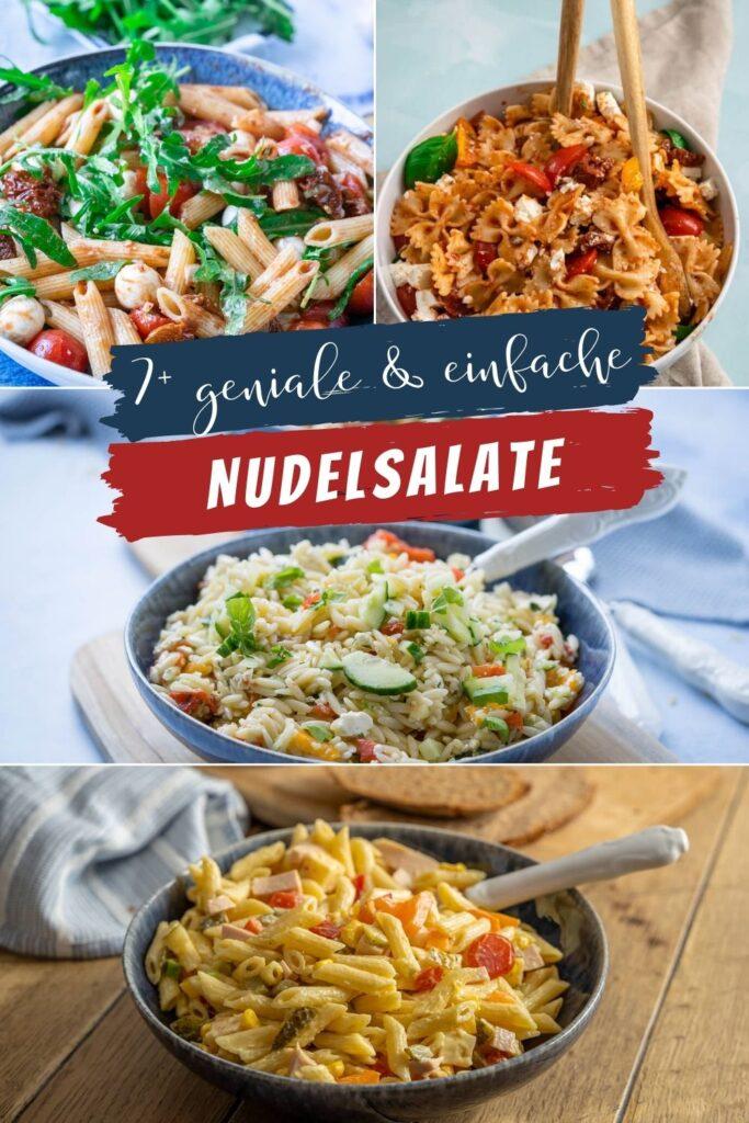 Suchst du nach einem leckeren Rezept für Nudelsalat? Hier findest du mehrere geniale Nudelsalate auf einen Blick und für jeden Anlass. Die Rezepte sind kinderleicht zuzubereiten und die Nudelsalate sind mega lecker!