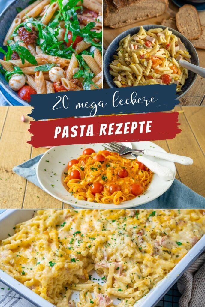 Pasta geht immer! Am liebsten jeden Tag, sie schmeckt köstlich - ohne viel Aufwand ruck zuck zubereitet - perfekt für Homeoffice & Mealprep. Aufläufe, Nudelsalate und einfache Pasta Gerichte
