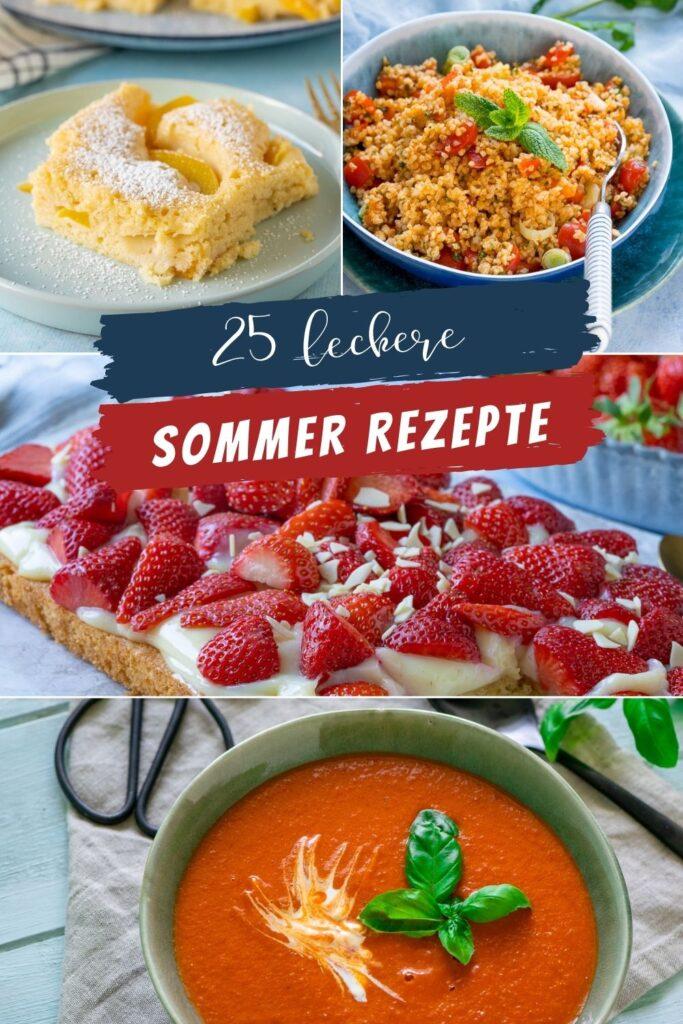 Hast du auch so große Sehnsucht nach dem Sommer? Hier habe ich 25 super geniale Rezepte zum Einstimmen auf wundervolle Sommertage.