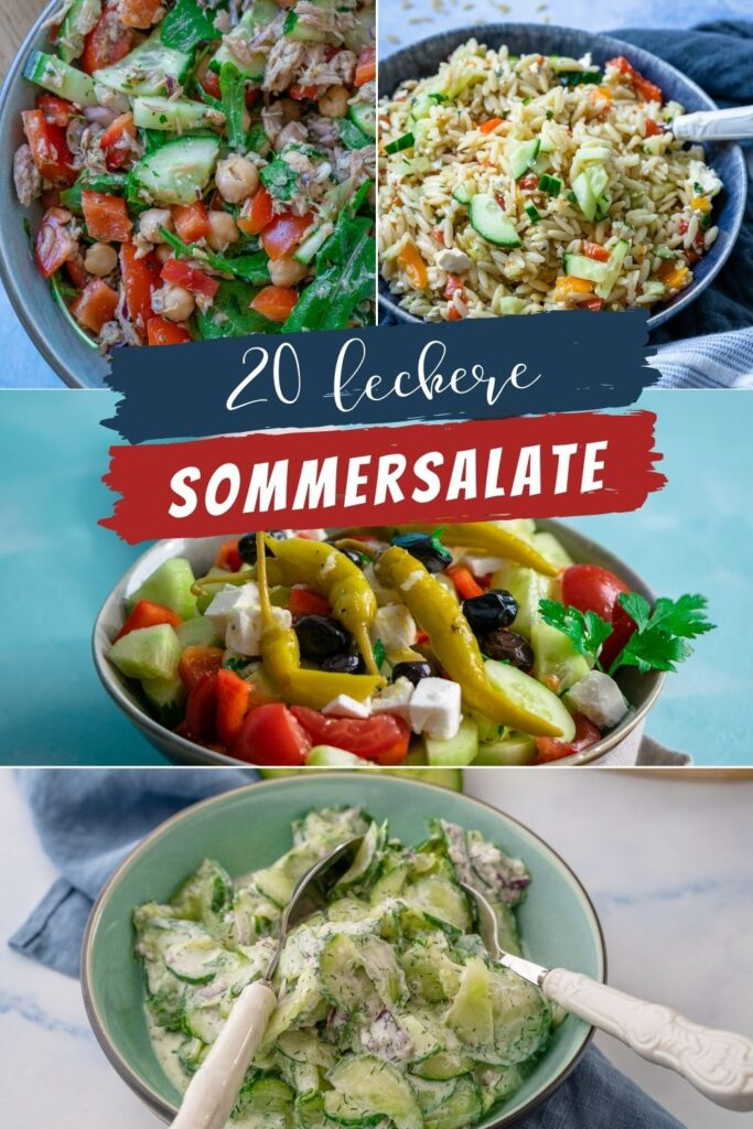 Salate schmecken im Sommer ganz besonders lecker. Sie schmecken erfrischend und sind einfach zuzubereiten. Auch an heissen Tagen ein Genuss!