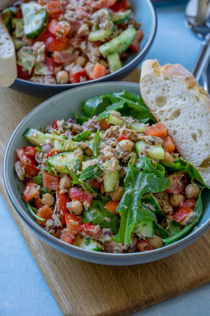 Kichererbsen Thunfisch Salat