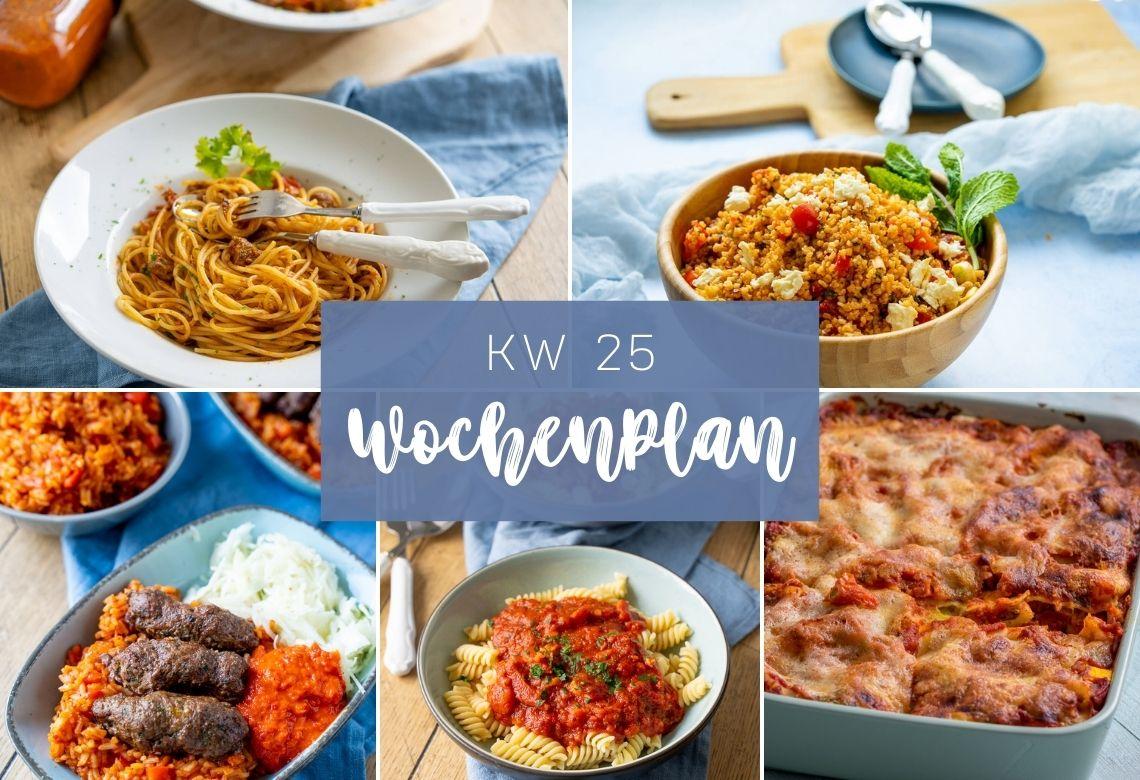 Wochenplan KW 25 – das essen wir diese Woche