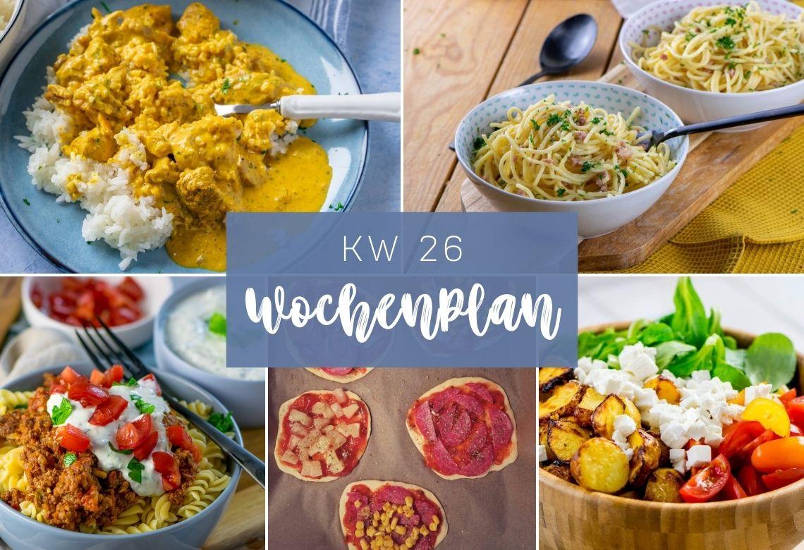 7 Tage - 7 Gerichte - leckere Gerichte für deine Wochenplanung