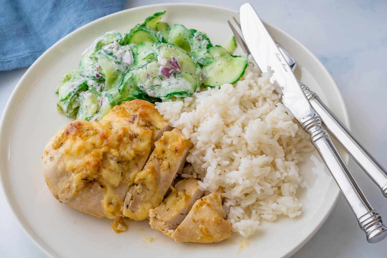 Zwiebel Sahne Hähnchen ohne Maggi