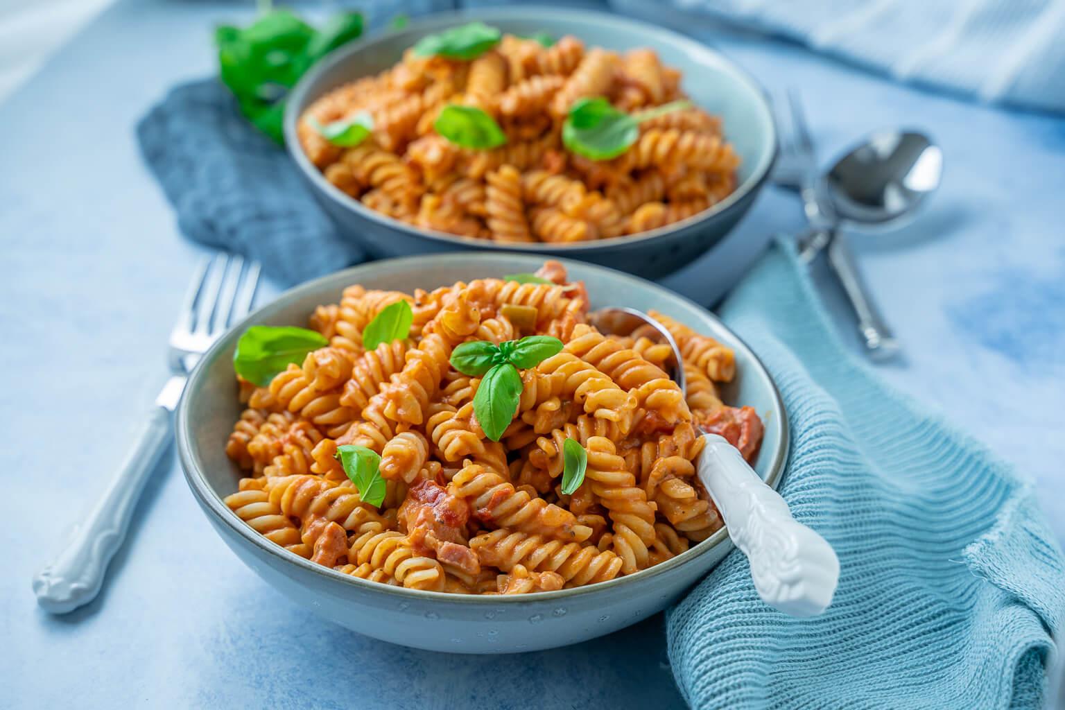 Köstliche 12 Minuten Tomatencreme Pasta