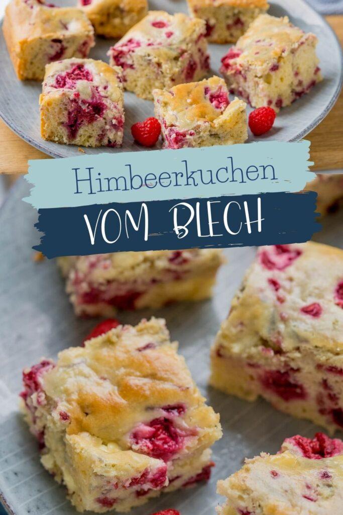 Der Himbeerkuchen wird dank Frischkäse zum mega leckeren und saftigen Rührkuchen vom Blech. Er ist Genuss pur und das Rezept super einfach.