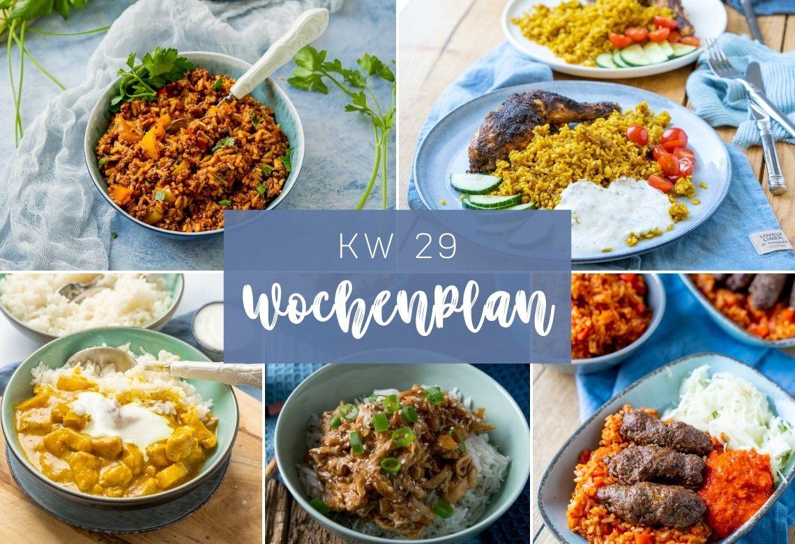 Wochenplan KW 29 - Reiswoche