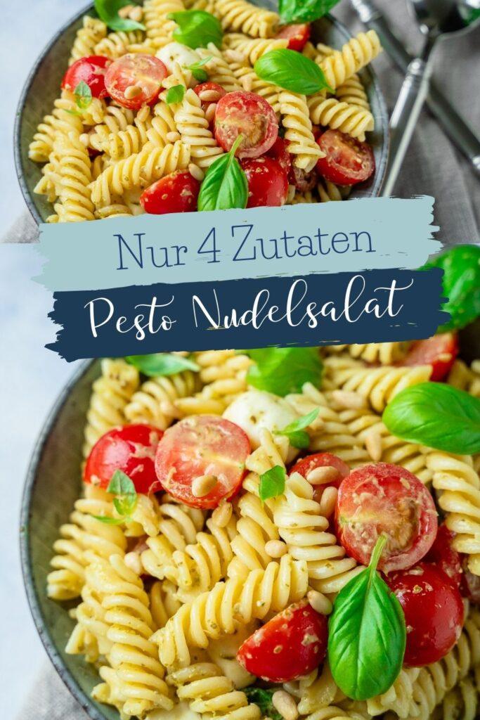 Lecker & schnell gemacht. Der Nudelsalat mit Basilikumpesto, Mozzarella und Tomaten ist in weniger als 15 Minuten fertig - mit nur 4 Zutaten.