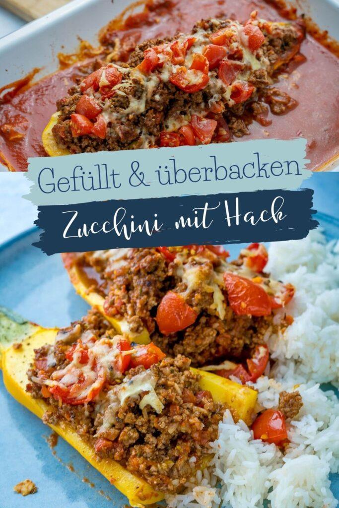 MEGA LECKER - Gefüllte Zucchini mit Hackfleisch und Tomatensauce