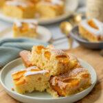 Lockerer Pfirsich Kuchen vom Blech