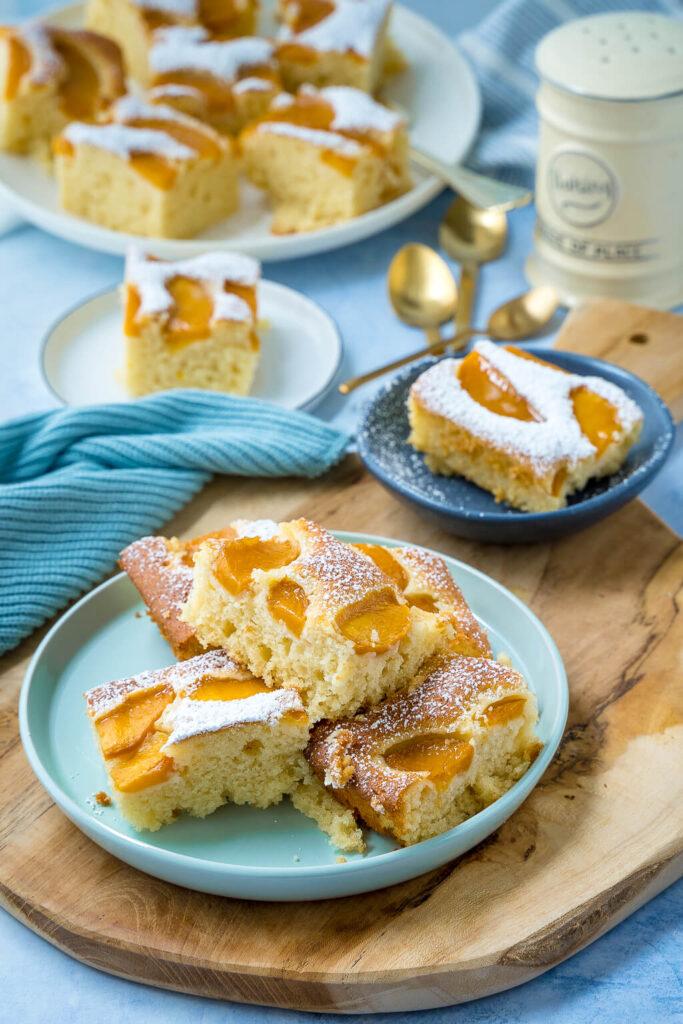 Saftiger Pfirsich Rührkuchen