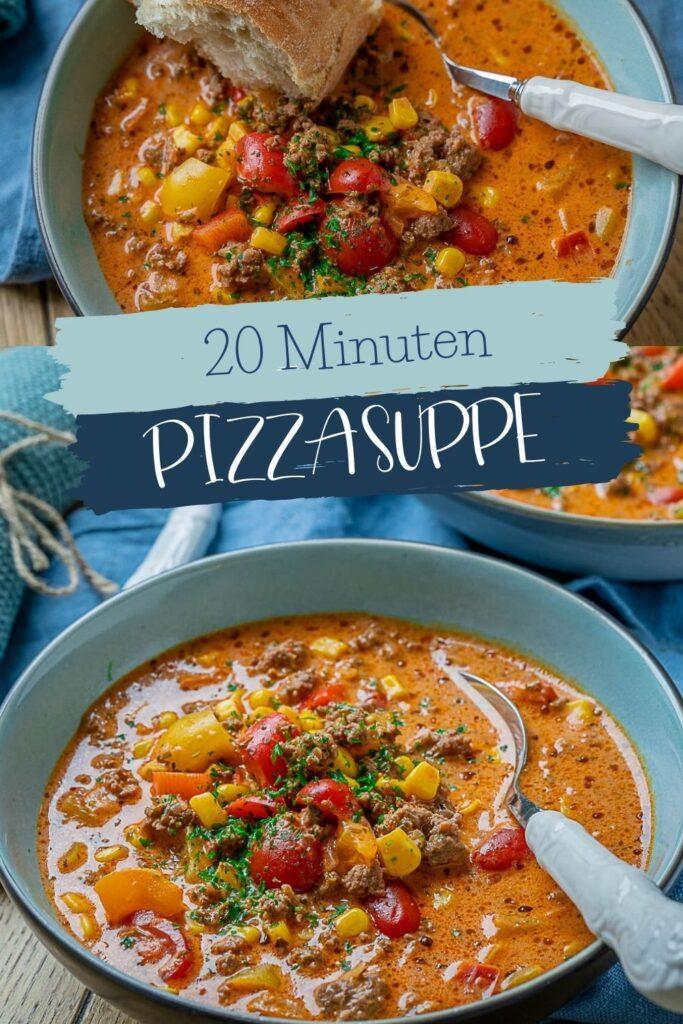 Alle lieben diese köstliche Pizzasuppe. Die Pizzasuppe ist einfach genial! Sie ist das perfekte Rezept für die ganze Familie, und passt ausgezeichnet in deine Feierabendküche!