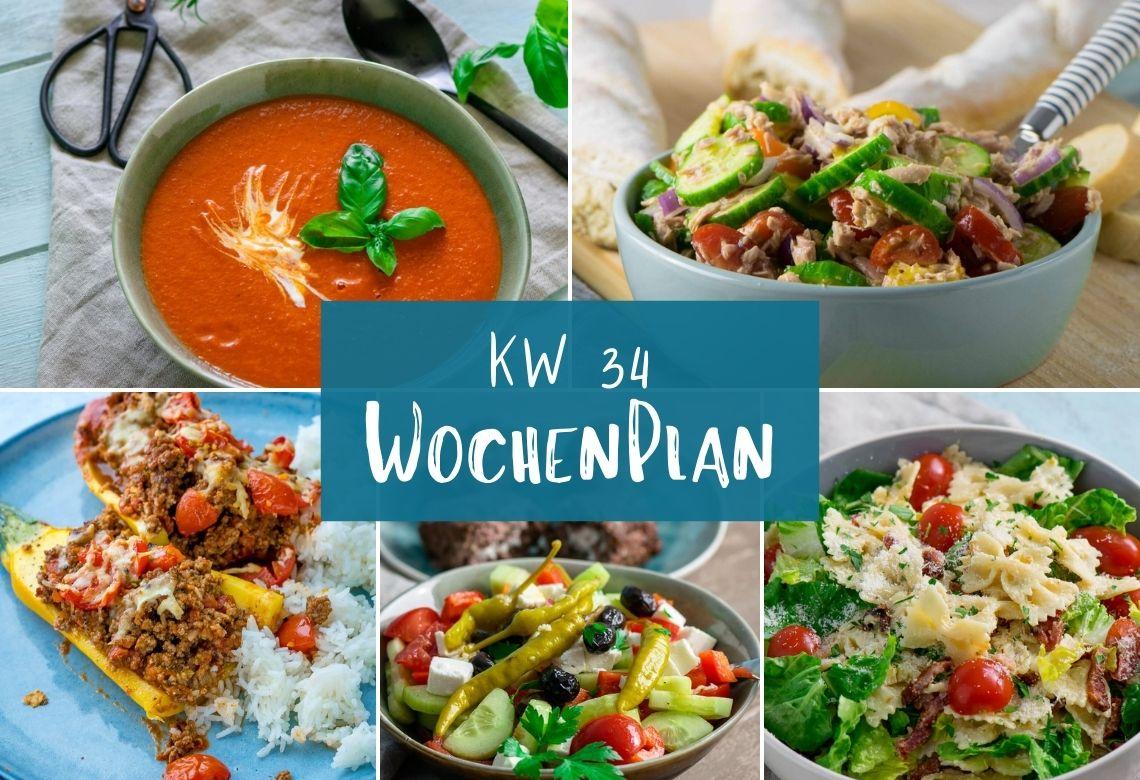 Wochenplan KW 34 – das essen wir diese Woche