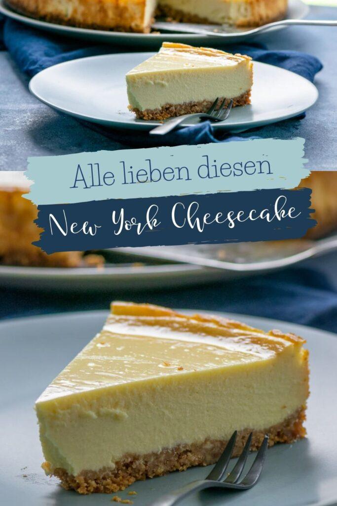 Original New York Cheesecake - cremig und abgöttisch lecker. Der Käsekuchen aus New York schmeckt göttlich - mit Tipps für das perfekte Ergebnis! Der New York Cheesecake ist cremig und schmeckt wie bei Starbucks.