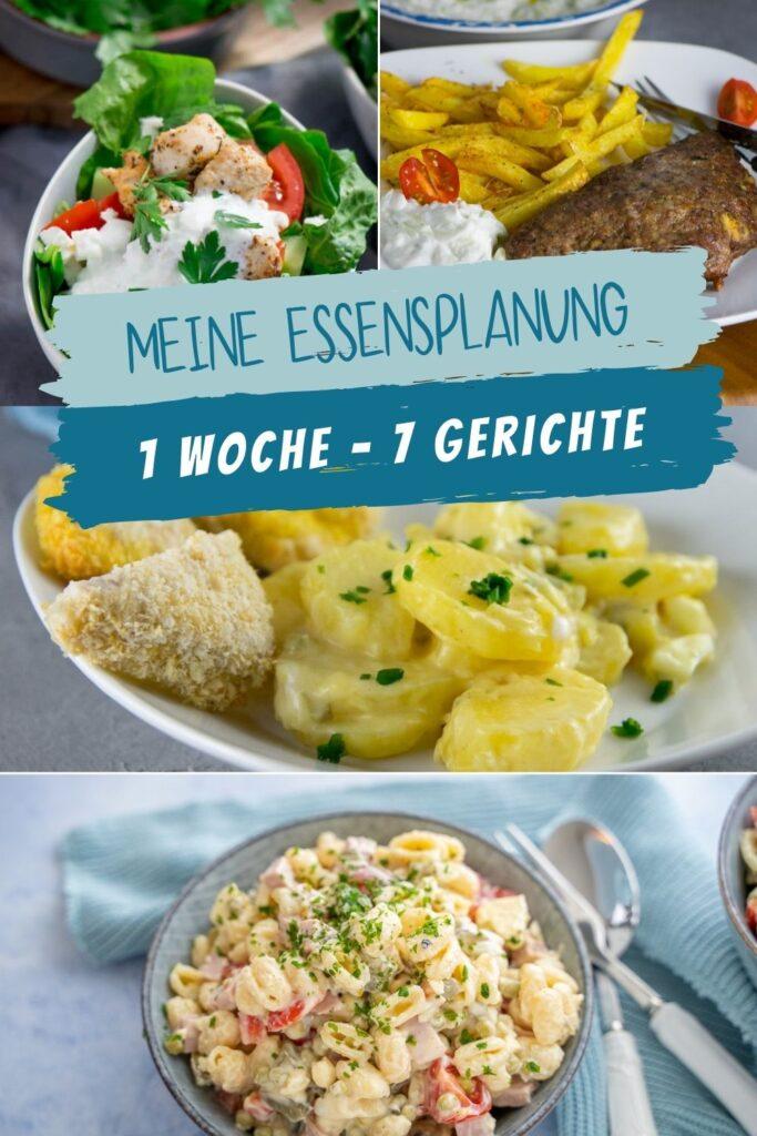 Unser Plan für die ganze Woche - das essen wir - 7 Gerichte für 7 Wochentage