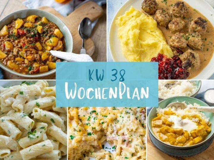 Wochenplan KW 38 – das essen wir diese Woche
