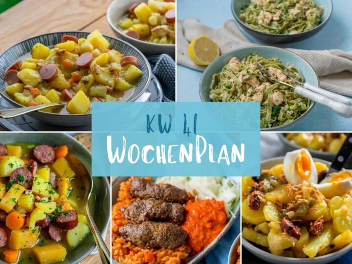 Wochenplan KW 41 – das essen wir diese Woche
